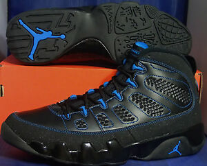 reputable site 30140 60681 Details about Nike Air Jordan 9 IX Retro Black Bottom Photo Blue DS RARE SZ  12 ( 302370-007 )