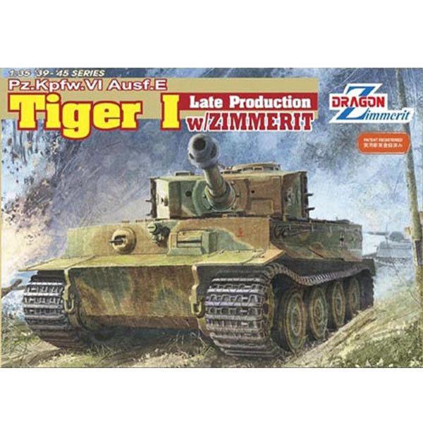 Dragon  35 Pz.Kpfw. Ausf.E Tiger I Late Production w ZimMerit