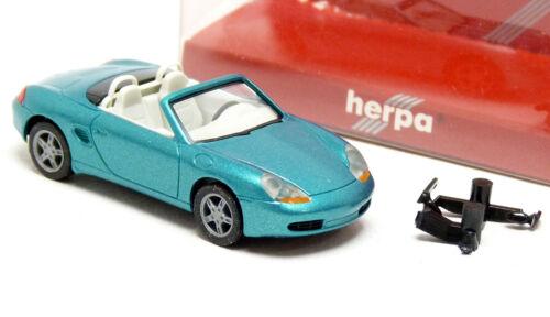 Herpa 032193 Porsche Boxster 986 Roadster blau metallic Modell PKW 1:87 H0