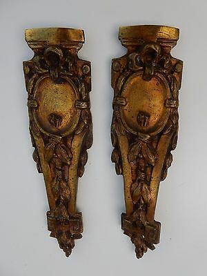 Aggressive Ormolu Antique Gilt Brass All To Upcycle A Pair 260 X 65mm Architectural & Garden