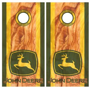 John Deere Wood Cornhole Board Wraps Skins Vinyl Laminated HIGH QUALITY!