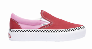 evaluar George Bernard Muy enojado  New Vans 2 Tone Classic Slip-On Platform Women Shoes Sneakers Fuchsia Pink  7.5   eBay