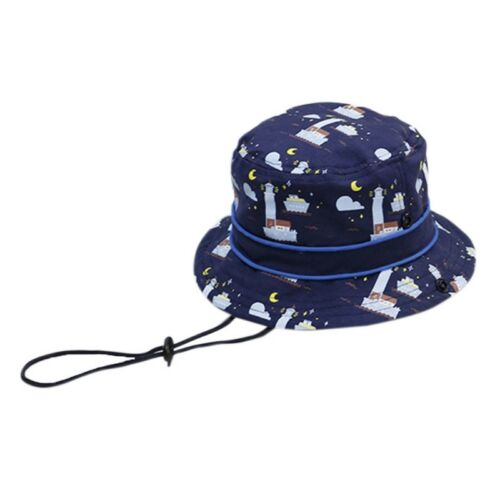 Protection Baby Sun Hat Toddler Kids Summer Caps Bucket With Chin Strap Ocean