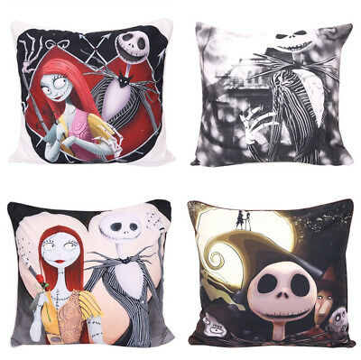 """Nightmare Before Christmas Throw Pillow Case Cushion Covers Home Office 18/""""x18/"""""""