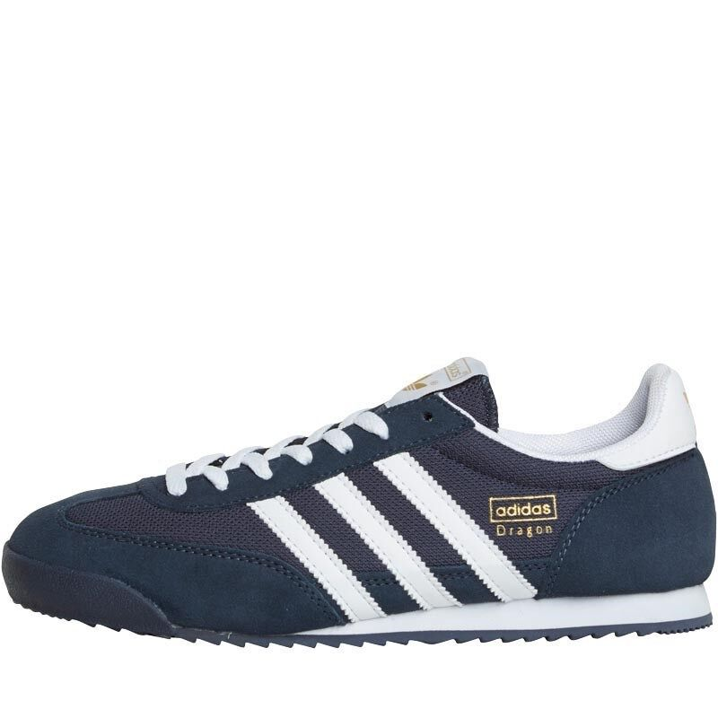 ADIDAS MENS DRAGON OG NAVY RUNNING SHOE NEW+BOXED SIZE 4,5,13 BARGAIN WOW!!!!!!!