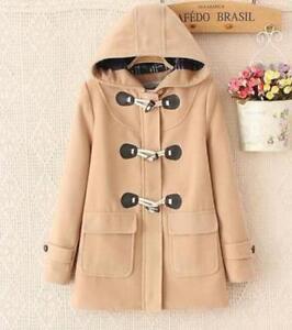 Outwear Trench Parka Hooded Woolen Jakker Winter Coat Lange Warm Women's Ipq58