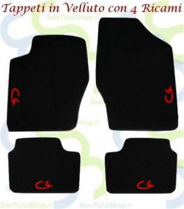 Citroen-C4-Tappeti-Tappetini-AUTO-in-VELLUTO-e-4-Ricami