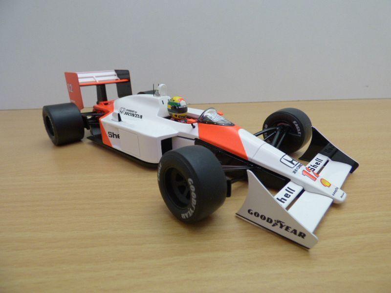 F1 Mac écrites nº mp4-4 Nº 12 Honda v6 turbo 1988 Ayrton senna 1 18
