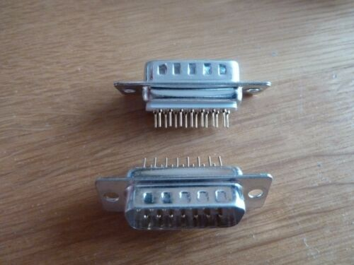 2 25 Way Straight PCB SUB D Socket