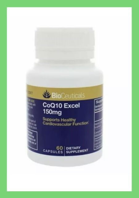 1 x BioCeuticals CoQ10 Excel 150mg 60 Softgel Capsules ( FAST SHIPPING )