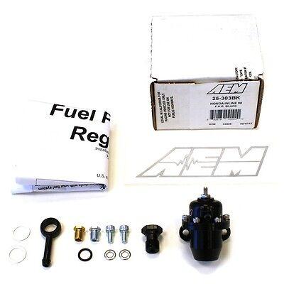 AEM BILLET FUEL PRESSURE REGULATOR FPR FOR 92-96 HONDA PRELUDE SI//VTEC 25-303BK