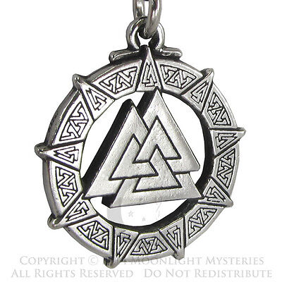 Valknut Warrior's Knot Valkyrie Viking Pendant Necklace