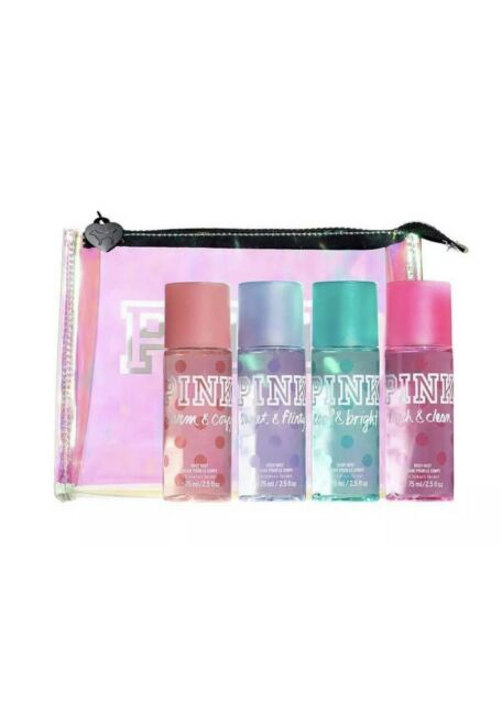 d00f9ae4f3 Victoria s Secret Pink Body Mist Gift Set Fresh Clean Warm Cozy Cosmetic Bag