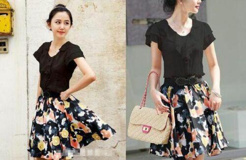 Casual Stylish Shirt Top Blouse Ladies Elegant Women Girl Shirts Floral Fashion