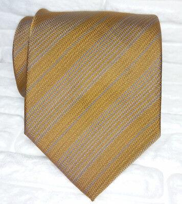 Cravatta Regimental Marrone 100% Made In Italy