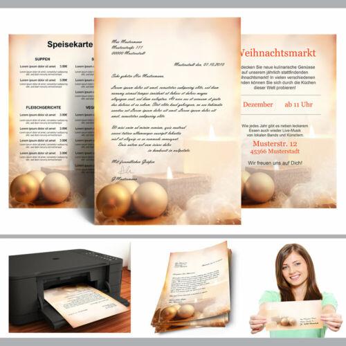 Motiv-Briefpapier WEIHNACHTSZEIT DIN A4 Format 100 Blatt