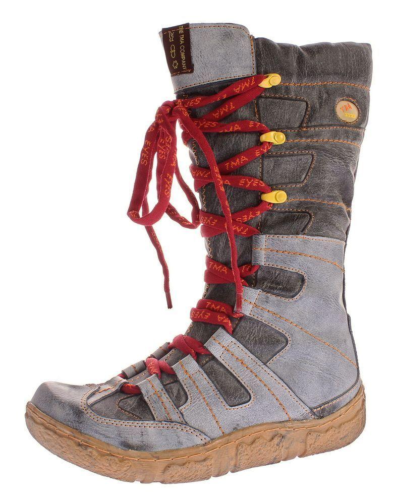 Hiver Bottes en Cuir Cuir Cuir shoes women Doublé D'Hiver avec Optique Usée Tma 7057 47abff