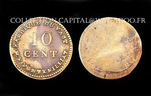10-Centimes-Mines-de-Vast-P-F-Fontenilliat-Louis-XVIII-Bronze