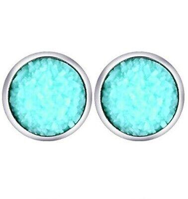 Mint Aqua Druzy Studs Druzy Earrings Aqua Stainless Steel Stud Earrings Faux Druzy 8mm Hypoallergenic Gifts for women Stud