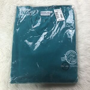 Vtg New Holland America Cruise Passport To Fitness Sweater XL Teal Long Sleeve