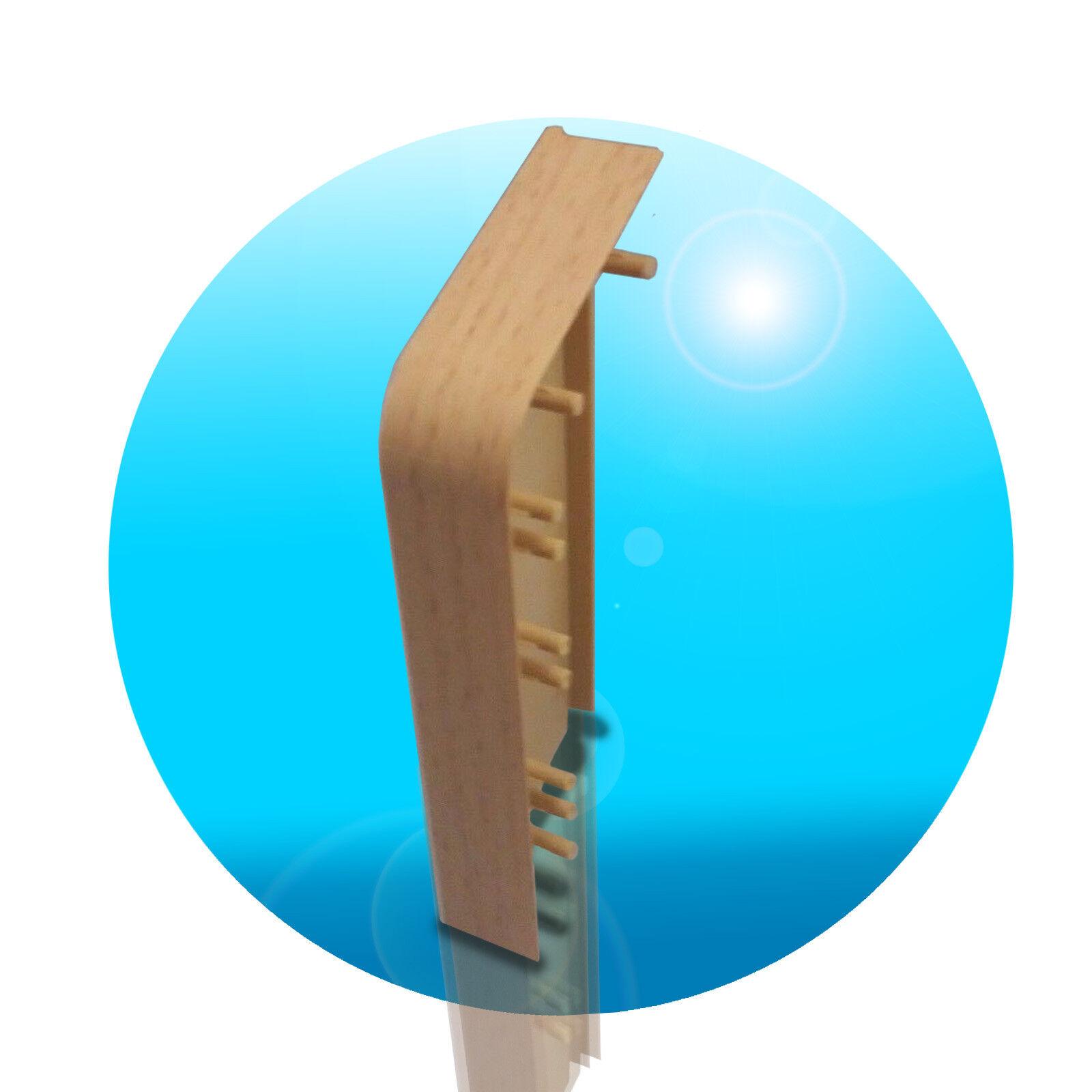 Saubere Fussleisten Montage Inhalt 1 St/ück passend zu Heizrohrverkleidung Buche hell 110mm Primo Rohrverkleidung Endst/ück links Kunststoff Endst/ücke links Buche hell