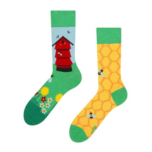 Good Mood Unisex Beehive Adult Insect Socks