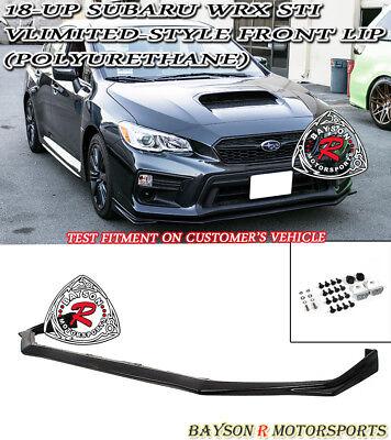 V-Limited Style Front Lip (Urethane) Fits 18-Up Subaru WRX STi