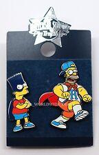 NEW Universal Studios Pin Trading - Bart & Homer Simpson - Super Hero Capes Mask