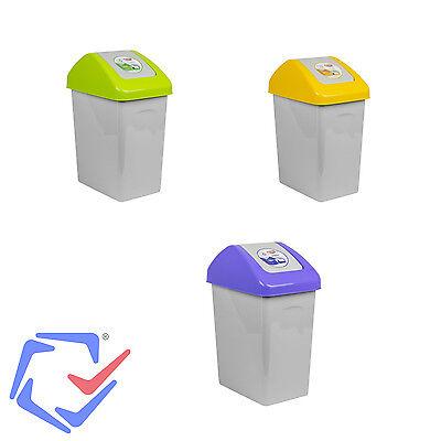 Cubo de basura con tapa abatible capacidad 10L BranQ 1310-3 colores variados