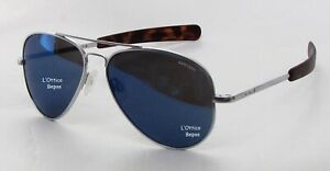 Randolph Occhiali D Sole Mod:cr74468-pc Sun 55 Mat Chrome Lente Blue Sky Flash P