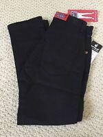 Boy's Stylo Solid Black Denim Classic Super Skinny Stretch Jeans All Sizes