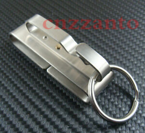 Stainless steel Quick release Keychain Belt Clip key ring snap holder