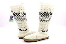 SANUK SNUGGLE UP LX SLOUCH BOOT NATURAL SWEATER SIDEWALK SURFER BOOTS SIZE 8 US