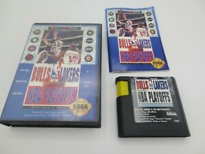 Bulls vs. Lakers and the NBA Playoffs (Sega Genesis, 1991)  Complete in Box -