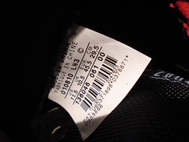 2001 Nike Air Jordan XI 11 Retro Retro Retro nero rosso bianca Brosso PATENT 136046-061 11.5 94404a