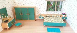Schlafzimmer Bodo Hennig 60er Jahre Puppenstube Puppenhaus 1 12 Holz Ebay
