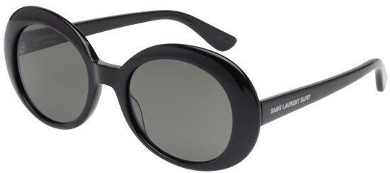 54mm Yves Laurent 002 Saint California Black Smoke Sl98 Sunglasses n0vNwm8O