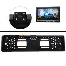Waterproof 170° European Car License Plate Frame Rear View Camera Night Vision