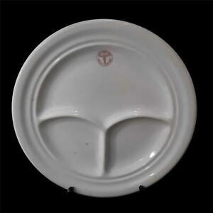 Vintage-1940s-U-S-Army-Medical-Department-10-Inch-Divided-Plate-by-TEPCO