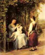 Zuber Buhler Fritz titillant le bébé A4