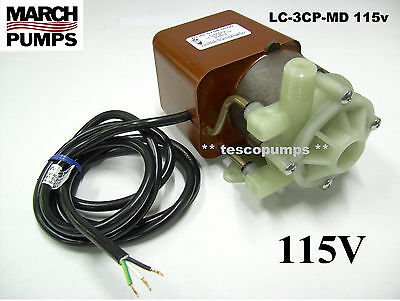 March Pump LC-3CP-MD 500 GPM 115 volt 0130-0158-0200 Air Conditioning Pump
