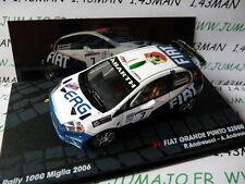 voiture 1/43 IXO Rallye FIAT grande Punto S2000 2006 Mille Miglia Andreucci