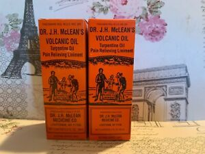 Details about DE  J H McLEANS VOLCANIC OIL 2 TURPENTINE OIL PAIN RELIEVING  LINIMENT 2 FL OZ EA