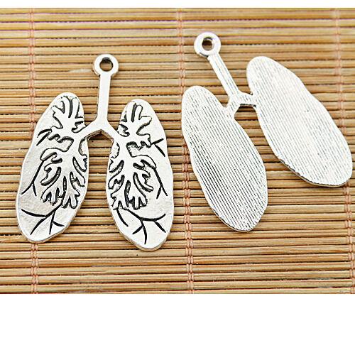 4pcs tibetan silver color lung design pendant EF1421