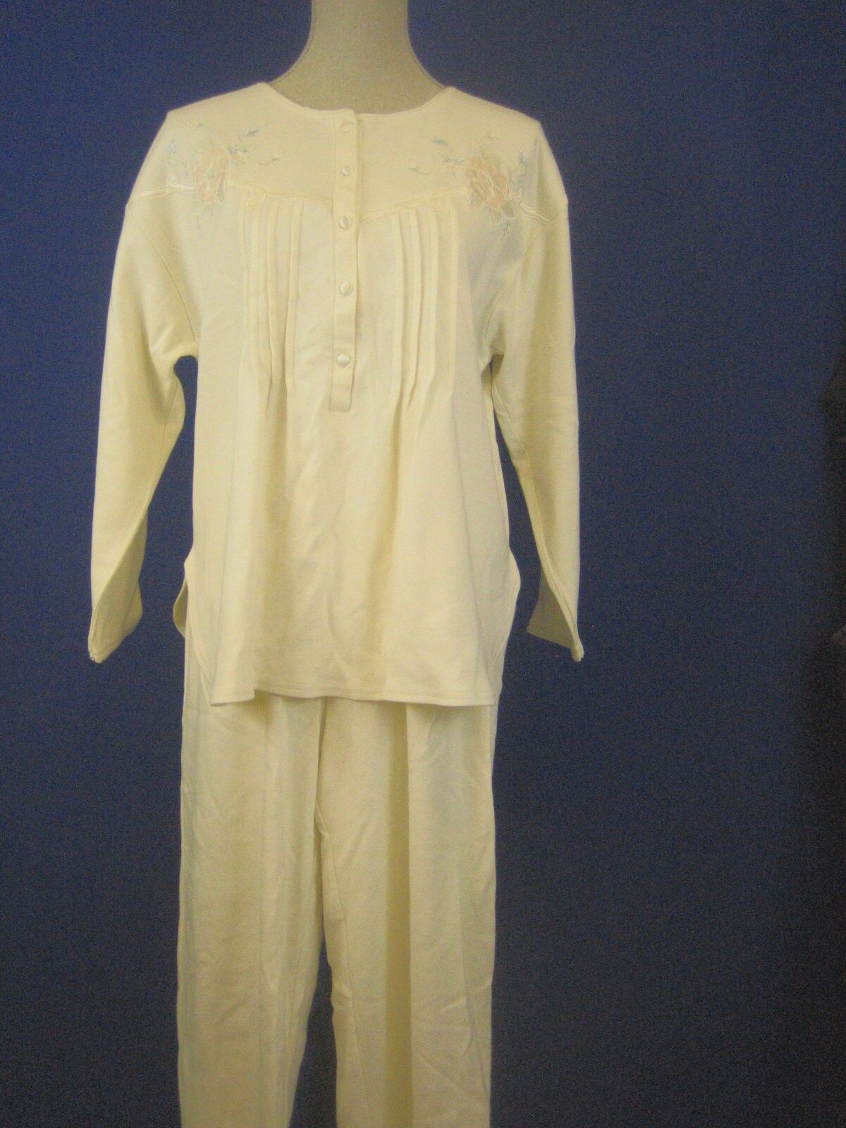 Sarah Spencer NEW Ivory Cotton Pajama Set S