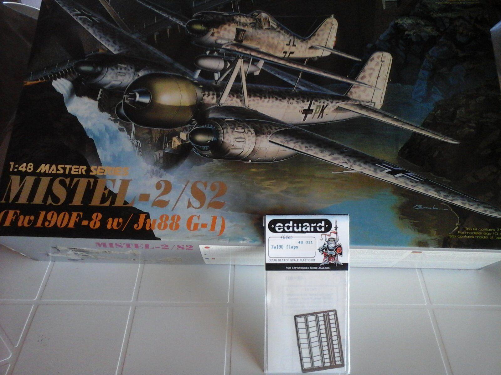 MISTEL-2 S2(FW190 F8W JU88G-1) 1 48 SCALE DRAGON MODEL+N.2 PHOTOETCHED PARTS