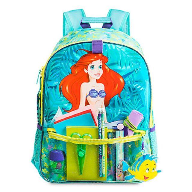 ac386e3ce18 Authentic Disney Princess Ariel Little Mermaid Backpack Kids School ...