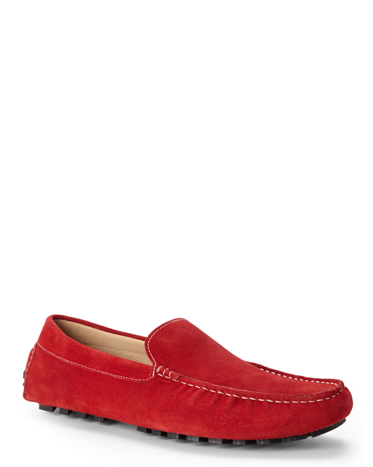 NEW ZANZARA SZ 10.5 RED SUEDE PICASSO SLIP ON LOAFERS MOCASSIN