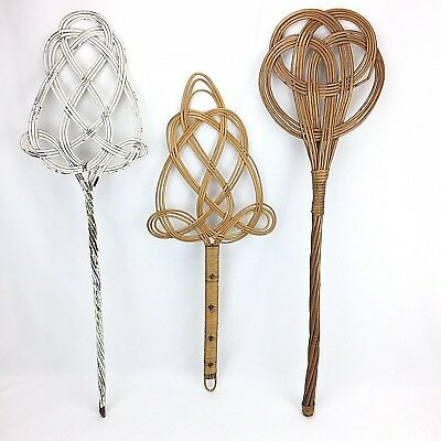 "Vintage Wicker Rug Beaters Lot Of 3 Knockers Swatters 28-32"" Long Other Decorative Collectibles"