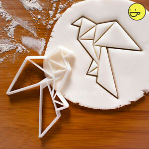 Details About Origami Dove Cookie Cutter Peace Bird Craft Fondant Biscuit Wedding Love Doves